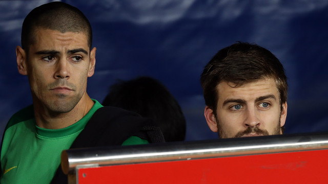 Valdés and Piqué PHOTO: MIGUEL RUIZ - FCB