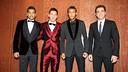 Alves, Messi, Neymar and Xavi at the Gala.