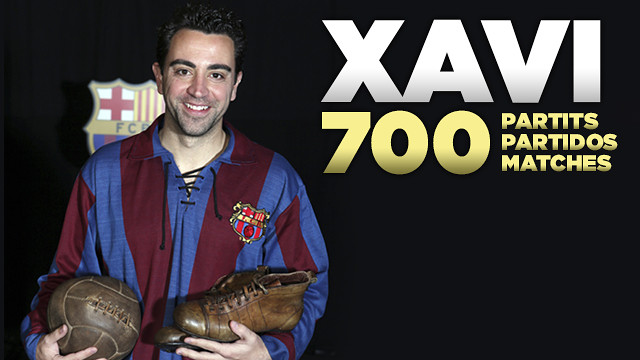 Xavi Hernández features in his 700th official match for FC Barcelona