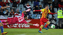 Leo Messi beats Codina / PHOTO: MIGUEL RUIZ-FCB