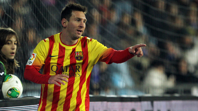 Leo Messi in action / PHOTO: MIGUEL RUIZ-FCB