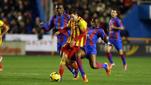 Leo Messi v Levante / PHOTO: MIGUEL RUÍZ