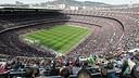 Aerial view of the Camp Nou / PHOTO: ARXIU FCB