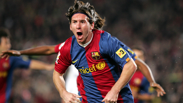 Messi in the 2007 game against Real Madrid. PHOTO: MIGUEL RUIZ-FCB.