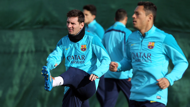 Leo Messi with Adriano
