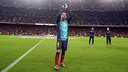 Xavi at the Camp Nou / PHOTO: MIGUEL RUIZ - FCB