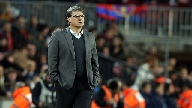 Tata Martino during the game.