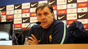 Martino, during the press conference. PHOTO: MIGUEL RUIZ - FCB