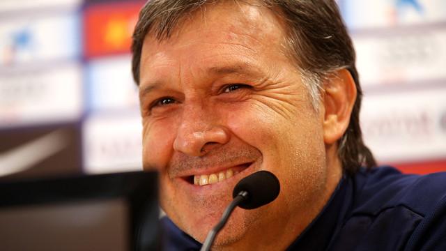 Gerardo Martino spoke to the press ahead of the Valencia match / PHOTO: MIGUEL RUIZ-FCB