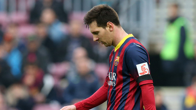 Leo Messi was clearly disappointed with the result / PHOTO: MIGUEL RUIZ-FCB