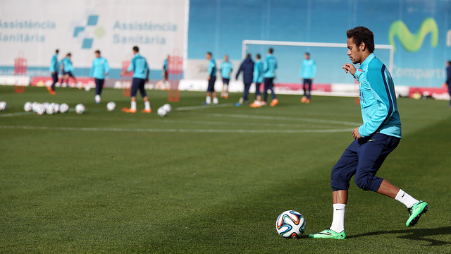 Neymar on a training pitch