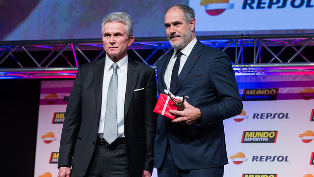 Jupp Heynckes and Andoni Zubizarreta, at the Gran Gala de Mundo Deportivo / PHOTO: GERMÁN PARGA - FCB