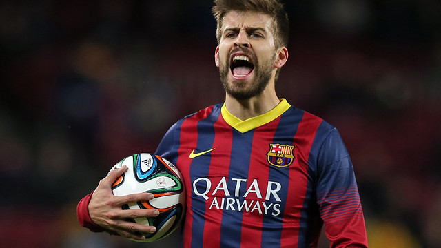The injured Gerard Piqué will not be playing for a fortnight. / PHOTO: MIGUEL RUIZ-FCB