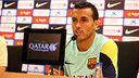 Pedro, en conférence de presse / PHOTO: ARXIU FCB
