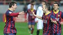 Iniesta and Messi / Photo Miguel Ruiz - FCB