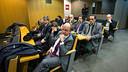 Board of Directors during Bartomeu's press conference / PHOTO: GERMÁN PARGA - FCB