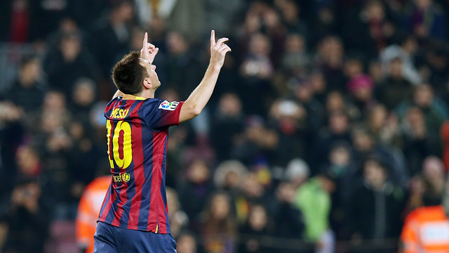 Leo Messi has scored a goal every 80 minutes in 2014 / PHOTO: MIGUEL RUIZ-FCB