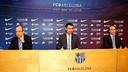 Bartomeu, Faus and Arroyo / PHOTO: MIGUEL RUIZ - FCB