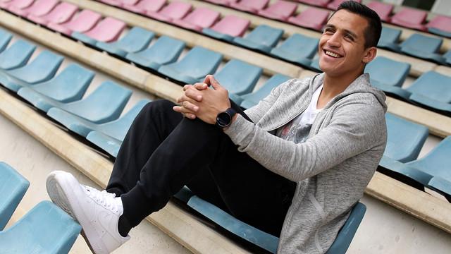 Entrevista a Alexis Sánchez. FOTO: MIGUEL RUIZ-FCB.