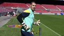 Valdes was at training this morning. PHOTO: MIGUEL RUIZ-FCB.