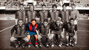 Team photo on March 20, 2004, when Messi played his third game for Barça B against Ieclà / PHOTO: FCB ARCHIVE