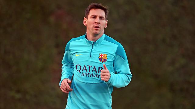 Leo Messi, a la Ciutat Esportiva / FOTO: MIGUEL RUIZ-FCB