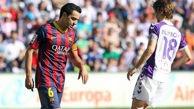 Xavi was visibly unhappy with today's performance / PHOTO: MIGUEL RUIZ-FCB
