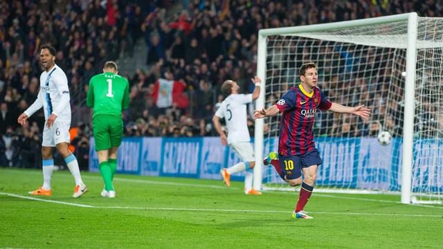 Messi obre els braços i els jugadors del City es lamenten