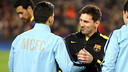 Messi et Agüero, au Camp Nou / PHOTO: MIGUEL RUIZ - FCB