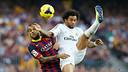 Alves i Marcelo, en acció / FOTO: ARXIU FCB