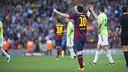 Gol de Messi contra Osasuna. FOTO: VÍCTOR SALGADO-FCB.
