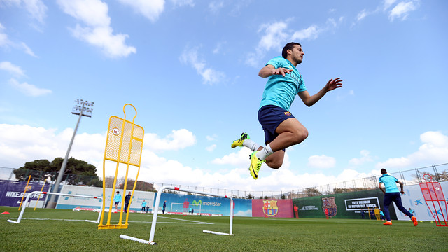 Pedro in a training session. PHOTO: MIGUEL RUIZ - FCB