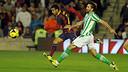 Pedro starred away to Betis earlier this season / PHOTO: MIGUEL RUIZ-FCB