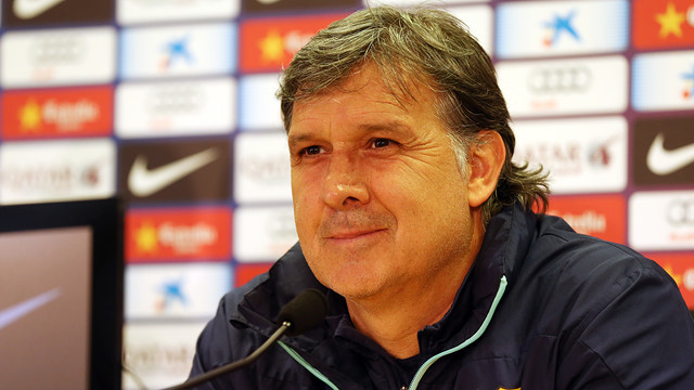 Martino in the press room of the Ciutat Esportiva / PHOTO: MIGUEL RUIZ – FCB