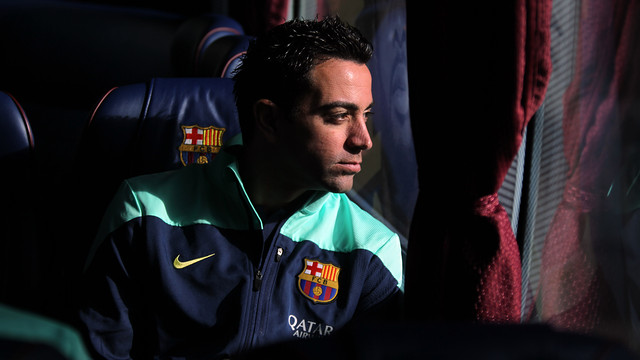 Xavi Hernández is in the 21-man party for the Bernabeu game / PHOTO: MIGUEL RUIZ - FCB