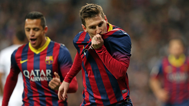 Messi got a hat trick at the Bernabéu.