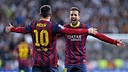 Messi and Jordi Alba / PHOTO: MIGUEL RUIZ - FCB