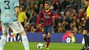 Jordi Alba in action against Celta. / PHOTO: MIGUEL RUIZ - FCB