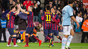 Messi was on target against Celta. PHOTO: GERMÁN PARGA-FCB.