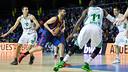 Juan Carlos Navarro was as confident as ever with his 3-point shooting. / PHOTO: GERMÁN PARGA-FCB