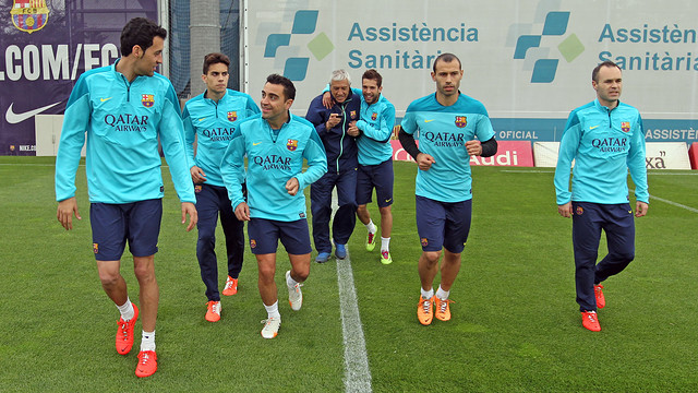 Training this Wednesday. PHOTO: MIGUEL RUIZ-FCB.