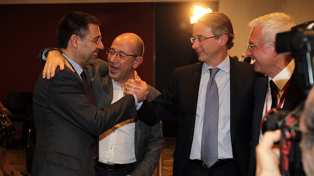 Bartomeu, Arroyo, Faus and Rossich / PHOTO: MIGUEL RUIZ-FCB