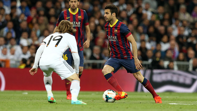 Bale and Alba will face-off again in the cup final. PHOTO: MIGUEL RUIZ-FCB.