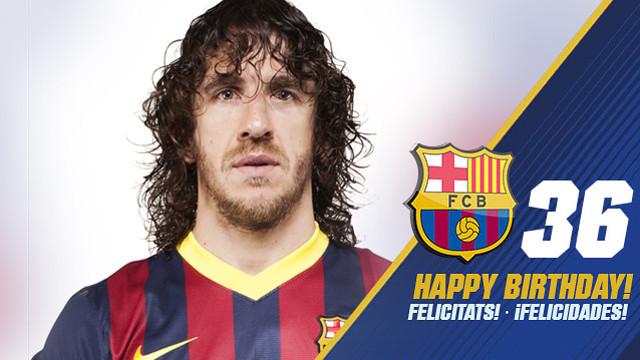 Carles Puyol turns 36