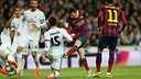 Messi, durant el 3-4 al Bernabéu / FOTO: MIGUEL RUIZ-FCB
