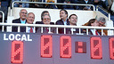 Josep Maria Bartomeu was speaking before the Barça B v Girona game at the Miniestadi / PHOTO: MIGUEL RUIZ - FCB