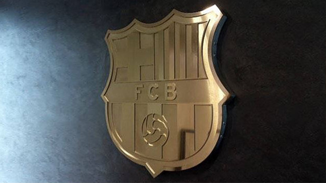 The shield of FC Barcelona