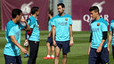 Busquets in training this morning / PHOTO: MIGUEL RUIZ-FCB