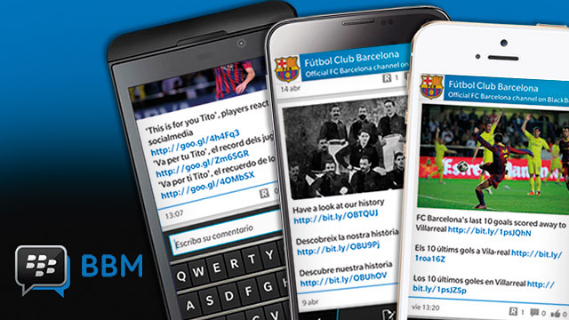 FC Barcelona is opening BBM Channel, a new mobile