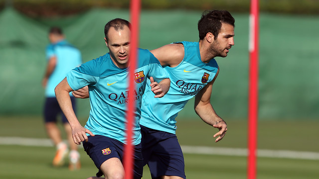 Iniesta and Cesc / PHOTO: MIGUEL RUIZ-FCB.